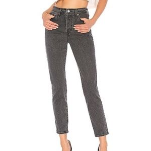 ANTHROPOLOGIE LEVIS WEDGIE FIT GRAY JEANS HIGH 25